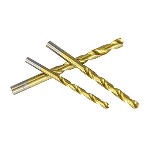 SHENYF 99 Pieces Diameter From 1.5mm to 10mm Titanium Coating HSS P6M5 Twist Drill Bit Set Most trustworthy (Color : 99PCS drill bit box)