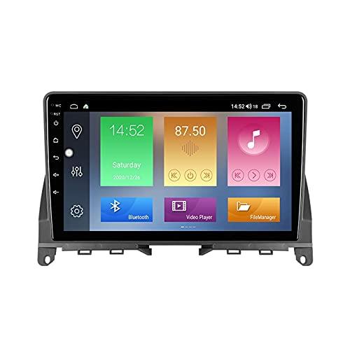 Sistema Android 11 de navegación GPS para Mercedes Benz Clase C 3 W204 S204 2006-2011 Unidad principal compatible con salida RCA completa 5G WiFi Control del volante BT incorporado Carplay Auto