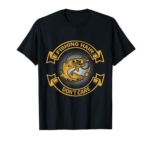 Fishing Hair Don't Care T-Shirt Fisherman Gift T-Shirt