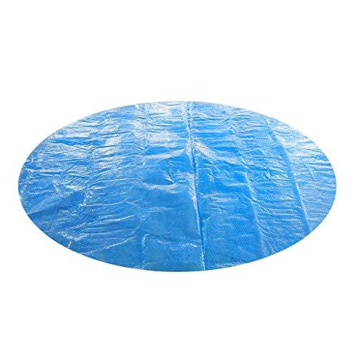 Muqgew Aufblasbare Solar-Pool-Abdeckung für 1,2 m, 1,5 m, 1,8 m, 2,4 m, 3 m, 3,6 m, 4,6 m Durchmesser, einfaches Set und Rahmen für Schwimmbäder, runde Poolabdeckung, Schutz