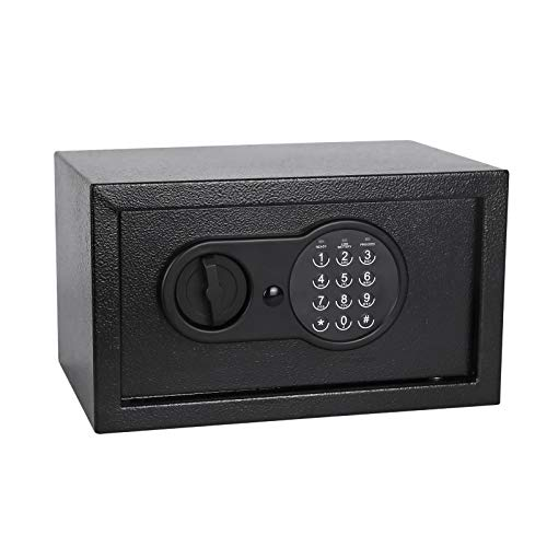 Homeyuer Security Safe Box 039 Cubic Feet with Induction LightElectronic Digital Security Safe With Steel Constructionfor BusinessGun PassportJewelry and Cash Suitable Use in HomesHotelsDormitories and Offices