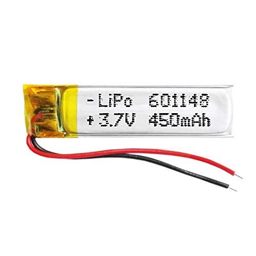 DronePost Batteria 601148 LiPo 3.7V 450mAh 1S Ricaricabile Telefono Portatile Video Luce LED GPS (3.7V|450mAh|601148)