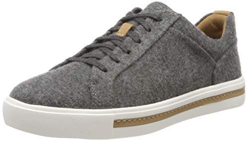 Clarks Damen Un Maui Lace Sneaker, Grau (Grey Textile Grey Textile), 39.5 EU