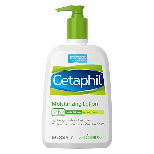 CETAPHIL Moisturizing Lotion | 20 fl oz | Instant & Long Lasting 24 Hour Hydrating Moisturizer for All Skin Types | Nourishing Lotion for Sensitive Skin | Non-Greasy | Dermatologist Recommended Brand