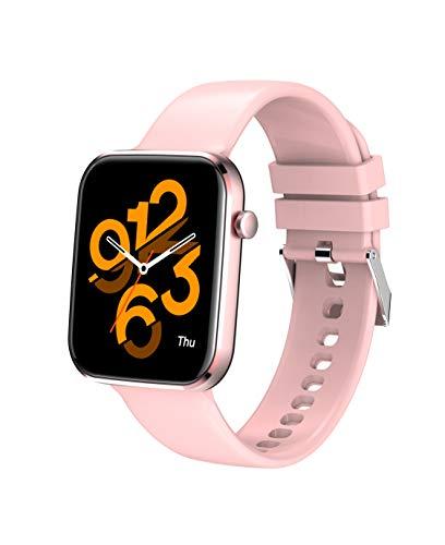MISIRUN SmartWatch Orologio Fitness Donna Uomo Fitness Tracker Cardiofrequenzimetro da Polso, Impermeabile IP67 Smartband Notifiche Messaggi Controller Musicale per Android iOS (Rosa)