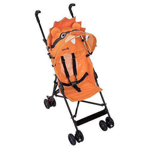 Safety 1st Crazy Peps Silla Paseo ligera, capota con diseño divertito, Plegable y compacta, Pesa 4,6 kg, león