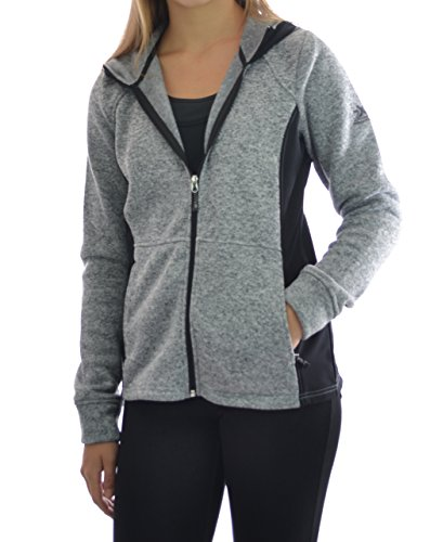 ZeroXposur Womens Performance Zip-Up Fleece Jacket Medium Charcoal