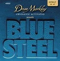 CUERDAS GUITARRA ACUSTICA - Dean Markley (2032) Blue Steel Extra Lite (Juego Completo 010/048B)
