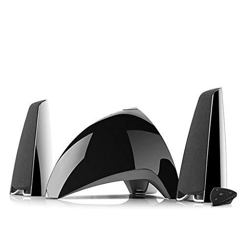 Apariencia Exquisita Altavoz Bluetooth for Dormitorio Exterior, Material plástico Altavoz de Red Altavoz de Escritorio inalámbrico Bluetooth 2 Colores Opcional Diseño portátil (Color : Black)