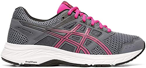 ASICS Women's Gel-Contend 5 (D) Running Shoes, 9W, Metropolis/Fuchsia Purple