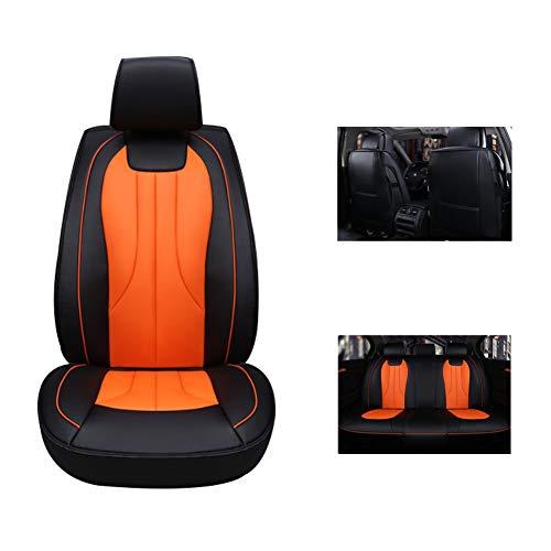 Nueva cubierta de asiento universal de cuatro estaciones, cojín de asiento de cuero resistente al desgaste transpirable y cómodo, antideslizante cubierta de asiento todo incluido,Orange