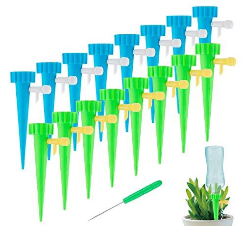 Mocraft Bewässerungssystem - 20 Stück Automatisch Bewässerung Set, Instellbar Einfaches Zum Gießen,Perfekt für Garten Pflanzen Bewässerung Blumen Gewächshäuser und Urlaub