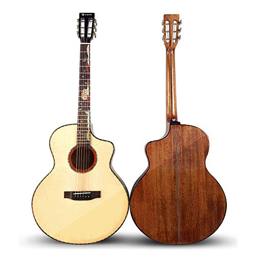 VHGYU Guitarra acústica De Gama Alta clásico Cabeza 41 Pulgadas de Chapa de Madera de Caoba Spruce Folk Luz Guitarra de Madera para el Arranque Principiante Amantes de la música