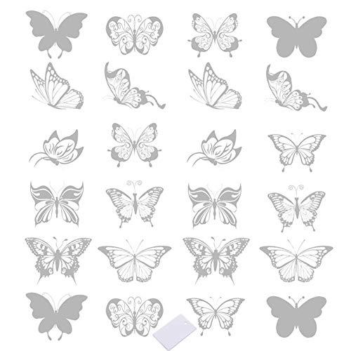 SwirlColor Vinilo Ventana con Forma de Mariposa, Adhesivos para Ventanas para Alertar...