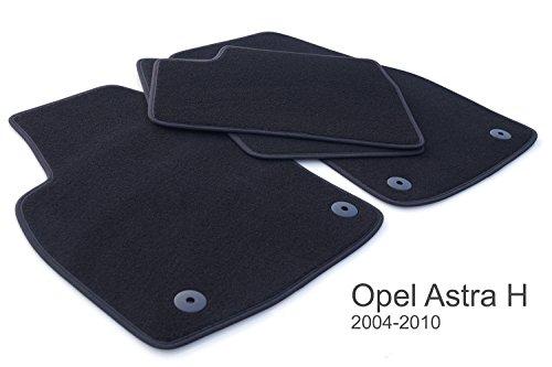 Fußmatten passend für Astra H Velour Automatten, 4-teilig schwarz