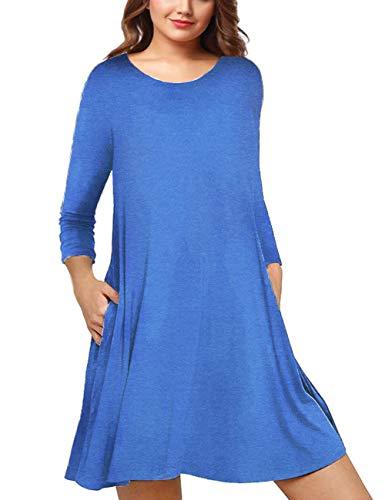 AMZ PLUS vestido bohemio informal de verano sin mangas para mujer de talla grande -  -  XXX-Large
