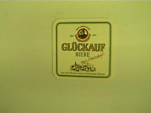 Bierdeckel: Glückauf Biere aus Gersdorf,