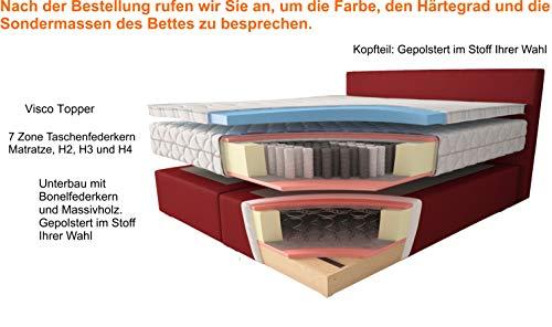 Johanna Boxspringbett Blau + Lieferung und Aufbau kaufen  Bild 1*