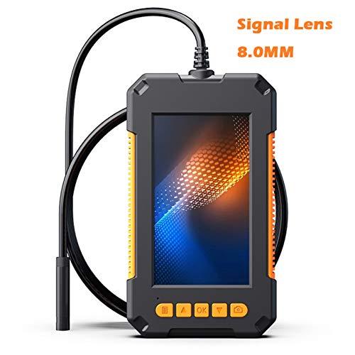 Endoscopio Inspección Industrial endoscopio de doble cámara de 4,3 pulgadas IPS pantalla HD1080P 3.9mm 5.5mm 8mm semi-rígida cable impermeable 2600 mAh para detector de tubería de alcantarillado,