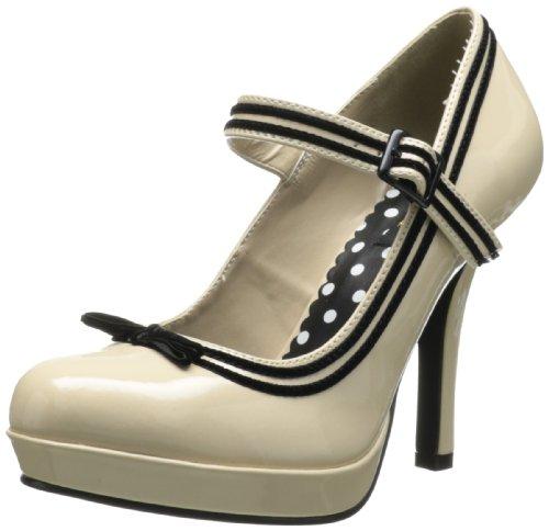 Pleaser Sec15/Crpt - Zapatos de tacón para mujer, colore Beige (Cream), talla 37 EU (4 UK)