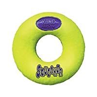 Fun, erratic bounce Dual materials for added durability Multiple shapes and sizes for more ways to play Non-abrasive felt is gentle on dogs' teeth