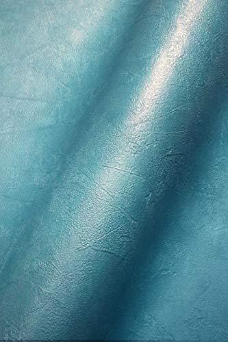 NEWROOM Tapete Blau Vliestapete Beton - Universal Modern Petrol Struktur Putz Einfarbig Uni Beton-Optik Putz-Optik inkl. Tapezier-Ratgeber