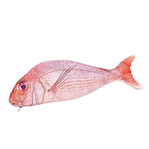 Doitsa(ドイサ) ペンケース ペンポーチ 筆入れ 面白い 魚 鯉 筆箱 ペンボックス 収納ポーチ かわいい おしゃれ 女の子 男の子 赤