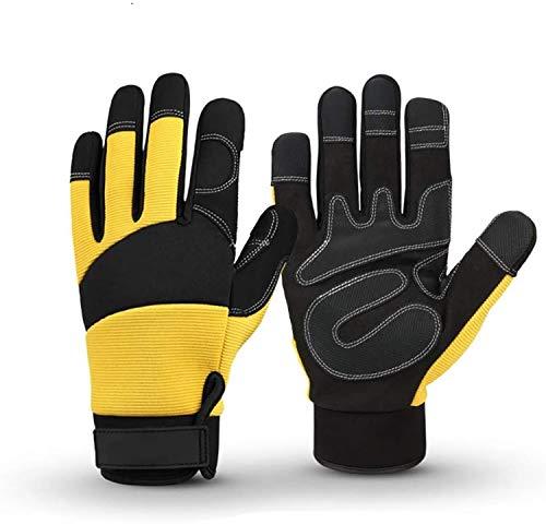 ZMYY 1 par de guantes de trabajo multifuncionales al aire libre con pantalla táctil antideslizante cálido para ciclismo mecánicos montaje almacén jardinería