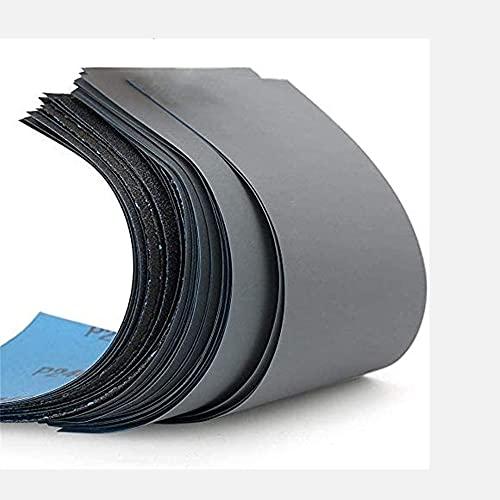 FEIHU-Schleifpapier Set, Körnung von 120 bis 10000, Wasserfest Nass & Trocken für automatisiertes Schleifen, Holz, Stein, Lack, Metall,Autos9 x 3,6 Zoll.(51 Stück)