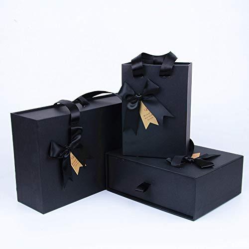 LYFST Caja de perfume al por mayor con caja de regalo de cola, caja de regalo creativa, caja de regalo (color: negro, tamaño: tarjeta)
