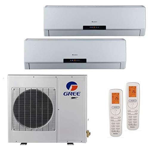 Gree MULTI18BNEO201-18,000 BTU +Multi Dual-Zone Wall Mount Mini Split Air Conditioner Heat Pump 208-230V (9-12)