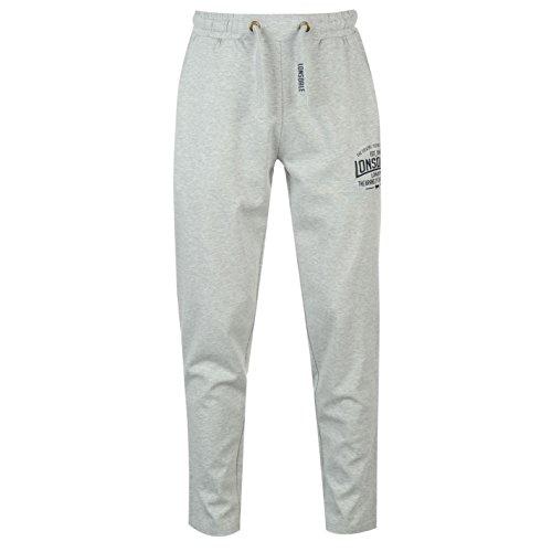 Lonsdale, pantaloni da tuta, per boxe e jogging, leggeri, da uomo , Grey Marl, XS