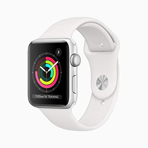 Apple Watch Series 3 GPS 42mm Smart Watch (Silver Aluminum Case, Fog Sport Band)