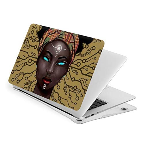 Laptop Case for MacBook Gold Afro American Girl Magic Laptop Computer Hard Shell Cases Cover (New Air13 / Air13 / Pro13 / Pro15)