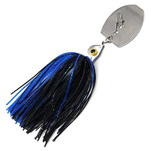 Reaction Tackle Tungsten Chatter Bait Blade Swim Jigs (2 Stück), schwarz/blau, 1/2 oz (2-Pack)