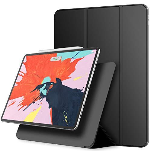 JETech Funda Magnética iPad Pro 12,9 Pulgadas (2020/2018 Modelo), Soporte de Apple Pencil 2ª Generación de Carga, Accesorio Magnético, con Auto Sueño/Estela