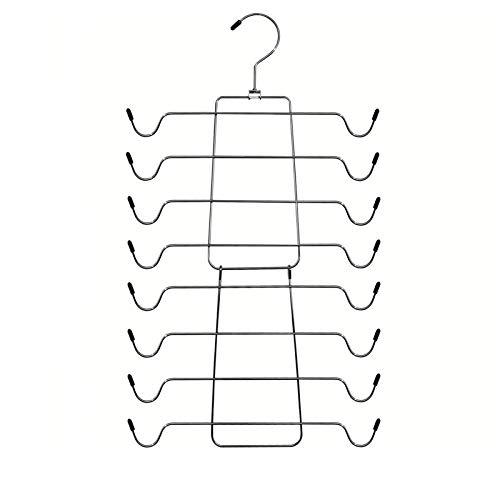 Niclogi Tank Tops Hangers Bra Hangers 4 Pack Space Saving Hanger Metal Folding Closet Organizer for Tank Tops Cami Bras Bathing Suits Belts