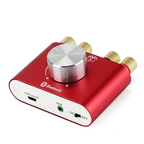 DollaTek TPA3110 30 W * 2 Mini Stereo a Due canali Wireless Bluetooth Audio Amplificatore di Segnale Digitale Amplificatore di Potenza per Tablet PC Portatili Smartphone ect - Rosso