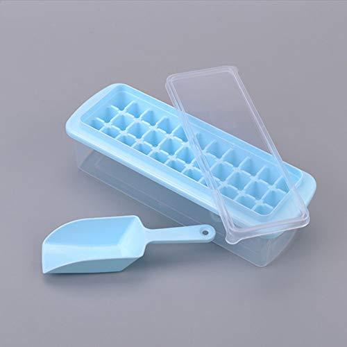 33 Grid met Deksel Ice Grid Ice Cube Ice Box ijskast met Ice Box om Ice Shovel Set Koelkast IJskast, Blauw