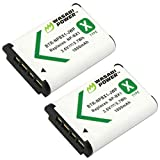 Wasabi Power NP-BX1 Battery (2-Pack) for Sony NP-BX1/M8, Cyber-Shot DSC-HX80, HX90V, HX95, HX99, HX350, RX1, RX1R II, RX100 (II/III/IV/V/VA/VI/VII), FDR-X3000, HDR-AS50, AS300, ZV-1 and More