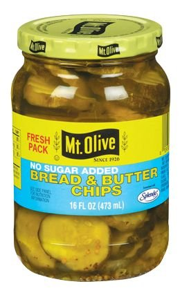 Mt Olive Bread & Butter Chips 16oz 3pack (no sugar added)
