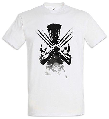 Urban Backwoods Wolverine Shadow Warrior Herren T-Shirt Weiß Größe M