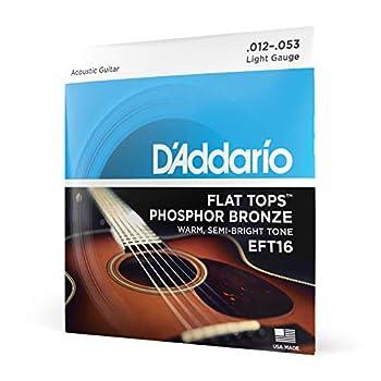 D Addario EFT16 Flat Tops Phosphor Bronze Acoustic Guitar Strings Light 12-53