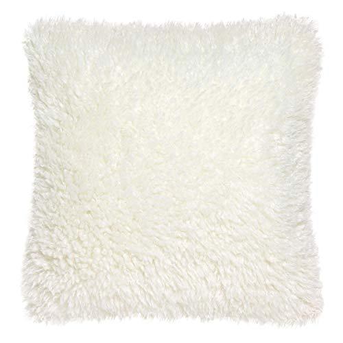 Vivaraise - Coussin - Coussin décoration - Coussin décoratif – Coussin carrée - Coussin canapé - Coussin intérieur - Coussin Multifonctions - 45 x 45 - Neige Blanc - Mily