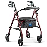 Best Walkers - Medline Steel Rollator Mobility Walker with 350 lb Review
