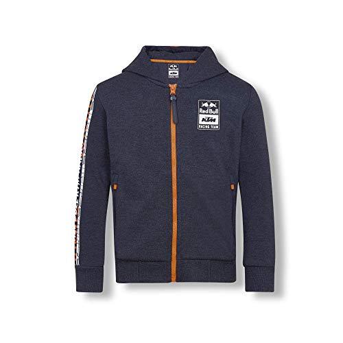 Red Bull KTM Letra Zip Felpa con Cappuccio, Blu Bambina 140 Hoodie, KTM Racing Team Abbigliamento & Merchandising Ufficiale