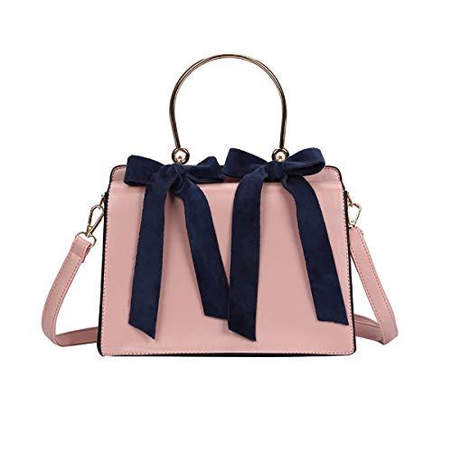 Tisdaini® Damenhandtaschen Mode klein Schultertaschen PU Leder Shopper Umhängetaschen Rosa