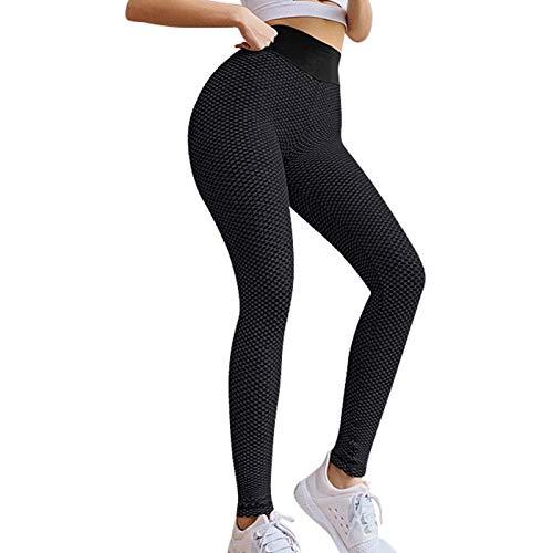 TIK Tok Women High Waist Hip Butt Lift Yoga Pants Bubble Leggings Tummy Control Workout Anti Cellulite Stretch Tight