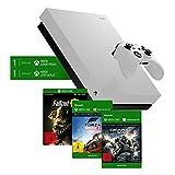 Microsoft Xbox One X 1TB, weiß - Fallout 76 Special Edition Weiß + Forza Horizon 4: Standard Edition (digital) + Gears of War 4 (digital) Bundle