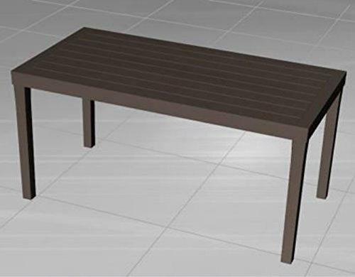 Desantis 'Table résine rettang. Sumatra Blanc d